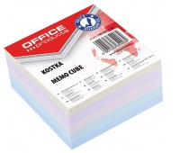 Note Cube Pad, OFFICE PRODUCTS, 85x85x40mm, assorted colours