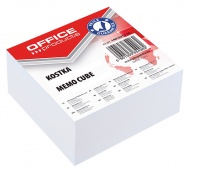 Note Cube Pad, OFFICE PRODUCTS, 85x85x40mm, white
