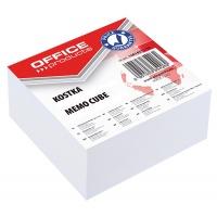 Kostka OFFICE PRODUCTS klejona, 85x85x40mm, biała, Kostki, Papier i etykiety