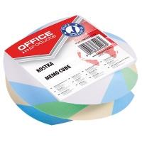 Kostka kręcona klejona 83x83x35mm mix kolorów, Kostki, Papier i etykiety