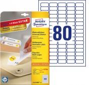 Usuwalne etykiety uniwersalne Avery Zweckform; A4, 30 ark./op., 35,6 x 16,9 mm, białe, Etykiety samoprzylepne, Papier i etykiety
