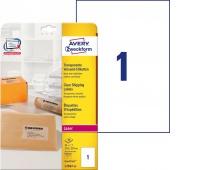 Etykiety wysyłkowe przezroczyste Avery Zweckform; A4, 25 ark./op., 210 x 297 mm, Etykiety samoprzylepne, Papier i etykiety