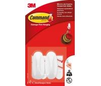 Haki wielokrotnego użytku COMMAND™ Designer (17082 PL), małe, 2 szt., białe, Haczyki, Prezentacja