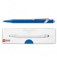 Długopis CARAN D'ACHE 849 Pop Line Metal-X, M, w pudełku, niebieski, Długopisy, Artykuły do pisania i korygowania