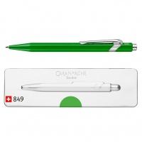 Długopis CARAN D'ACHE 849 Pop Line Metal-X, M, w pudełku, zielony, Długopisy, Artykuły do pisania i korygowania
