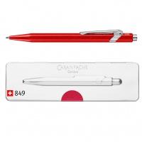 Długopis CARAN D'ACHE 849 Pop Line Metal-X, M, w pudełku, czerwony, Długopisy, Artykuły do pisania i korygowania