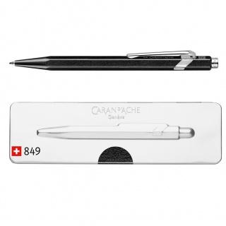 Długopis CARAN D'ACHE 849 Pop Line Metal-X, M, w pudełku, czarny, Długopisy, Artykuły do pisania i korygowania