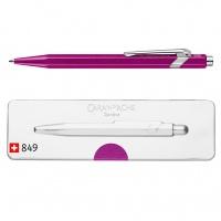 Długopis CARAN D'ACHE 849 Pop Line Metal-X, M, w pudełku, fioletowy, Długopisy, Artykuły do pisania i korygowania