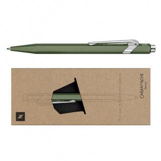 Długopis CARAN D'ACHE 849 Nespresso Green India, M, w pudełku, zielony, Długopisy, Artykuły do pisania i korygowania