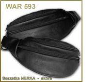 SASZETKA NERKA WAR-593 SKÓRA, Torby, torebki, Artykuły szkolne