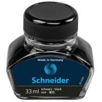Atrament do piór SCHEIDER, szklany kałamarz, 33ml, czarny, Pióra, Artykuły do pisania i korygowania