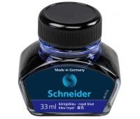 Atrament do piór SCHEIDER, szklany kałamarz, 33ml, niebieski, Pióra, Artykuły do pisania i korygowania