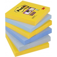 Bloczek samoprzylepny POST-IT® Super Sticky (654-6SS-NY), 76x76mm, 6x90 kart., new york, Bloczki samoprzylepne, Papier i etykiety