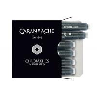 Naboje CARAN D'ACHE Chromatics Infinite Gray, 6szt., szare, Pióra, Artykuły do pisania i korygowania