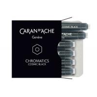 Naboje CARAN D'ACHE Chromatics Cosmic Black, 6szt., czarne, Pióra, Artykuły do pisania i korygowania