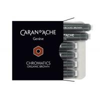 Naboje CARAN D'ACHE Chromatics Organic Brown, 6szt., brązowe, Pióra, Artykuły do pisania i korygowania