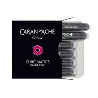 Naboje CARAN D'ACHE Chromatics Divine Pink, 6szt., różowe, Pióra, Artykuły do pisania i korygowania