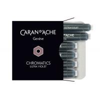 Naboje CARAN D'ACHE Chromatics Ultra Violet, 6szt., fioletowe, Pióra, Artykuły do pisania i korygowania