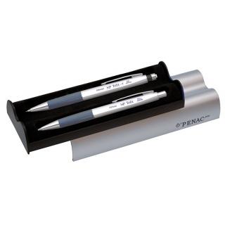 Zestaw długopis+ołówek PENAC Np Trifit Silver 1,0mm, niebieski