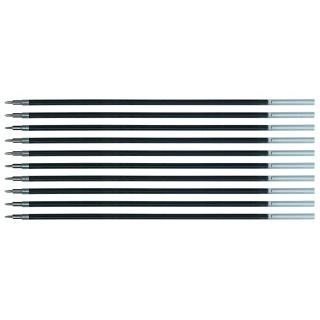 Wkład do długopisu żelowo-fluidowego Q-CONNECT 0,5mm, czarny, 10szt.