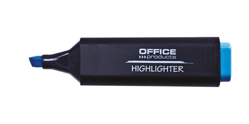 Zakreślacz fluorescencyjny OFFICE PRODUCTS, 1-5mm (linia), niebieski, Textmarkery, Artykuły do pisania i korygowania