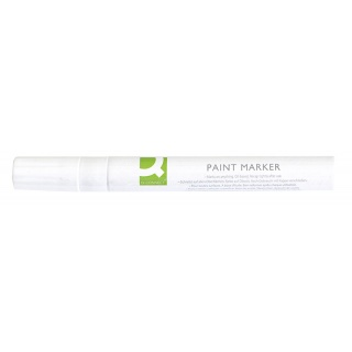 Oil-Based Marker Q-CONNECT, round, 2-3mm, white