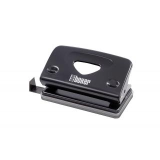 Dziurkacz ICO Boxer 080, dziurkuje do 10 kartek, czarny, Dziurkacze, Drobne akcesoria biurowe