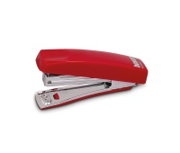 Zszywacz ICO Boxer Mini, zszywa do 10 kartek, zintegrowany rozszywacz, czerwony, Zszywacze, Drobne akcesoria biurowe