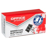 Paper Spring-tight Clips OFFICE PRODUCTS, 32mm, 12pcs, black