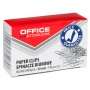 Spinacze okrągłe OFFICE PRODUCTS, 50mm, 100szt., srebrne, Spinacze, Drobne akcesoria biurowe