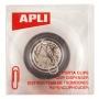 Pojemnik magn. na spinacze APLI, transparentny, Przyborniki na biurko, Drobne akcesoria biurowe