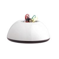 Pojemnik magn. na spinacze Lux biały, Przyborniki na biurko, Drobne akcesoria biurowe