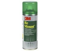 Klej w sprayu 3M Remount (UK9473), do repozycjonowania, 400ml, Kleje, Drobne akcesoria biurowe