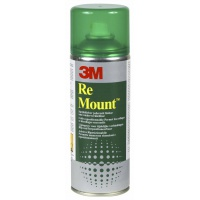 Spray Mount Adhesive Can 3M Remount (UK9473), repositionable, 400ml