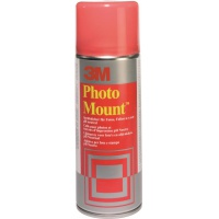 Spray Mount Adhesive Can 3M Photomount (UK9479/10), for mounting photospermanent, 400ml