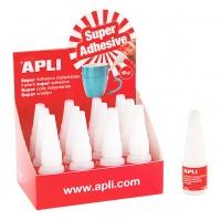 Klej błyskawiczny APLI, 10g, Kleje, Drobne akcesoria biurowe