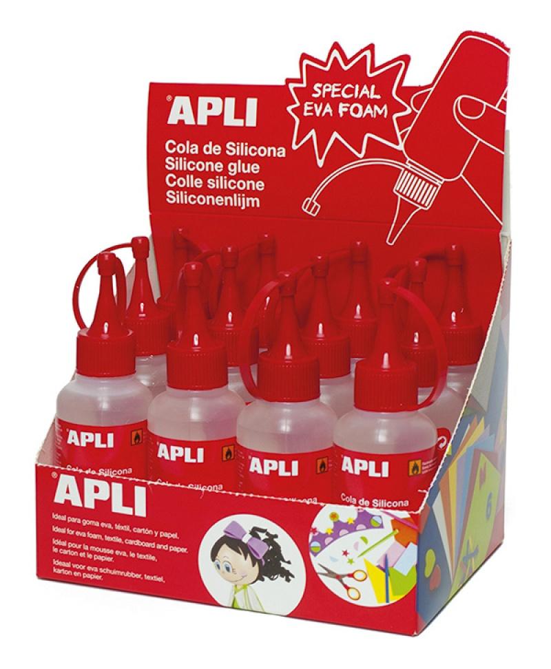 Klej silikonowy APLI, 100ml, Kleje, Drobne akcesoria biurowe