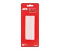 Klej termotopliwy APLI, 7,5mm, 10szt., transparentny, Kleje, Drobne akcesoria biurowe