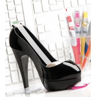 Dyspenser do taśm SCOTCH® (BShoe-810D) w kształcie buta czarny taśma GRATIS, Taśmy biurowe, Drobne akcesoria biurowe