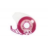 Dyspenser do taśm SAX Design, na blistrze, różowy, taśma GRATIS, Taśmy biurowe, Drobne akcesoria biurowe