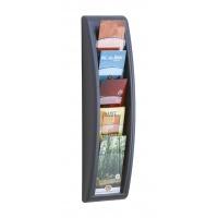 Zestaw naścienny 5 półek 1/3 A4 grafitowy, Półki, Drobne akcesoria biurowe