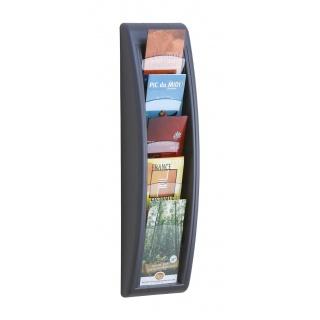 Zestaw naścienny PAPERFLOW, 5 półek, 1/3 A4, grafitowy, Półki, Drobne akcesoria biurowe