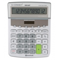 Calculator, Desktop, Q-CONNECT Premium, 12-digit, 154x205mm, grey