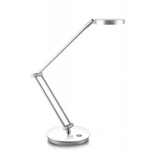 Lampka na biurko CEP CLED-400, 7, 5W, ze ściemniaczem, srebrno-biała, Lampki, Urządzenia i maszyny biurowe