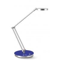 Lampka na biurko CEP CLED-400, 7, 5W, ze ściemniaczem, srebrno-niebieska, Lampki, Urządzenia i maszyny biurowe