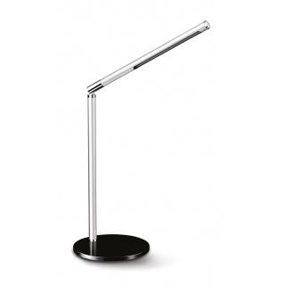 Lampka na biurko CEP CLED-100, 3W, ze ściemniaczem, srebrno-czarna, Lampki, Urządzenia i maszyny biurowe