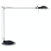 Lampka na biurko Business 50W halogenowa srebrno-czarna, Lampki, Urządzenia i maszyny biurowe