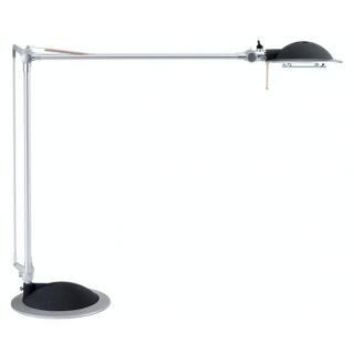 Lampka halogenowa na biurko MAULbusiness, 50W, srebrno-czarna, Lampki, Urządzenia i maszyny biurowe
