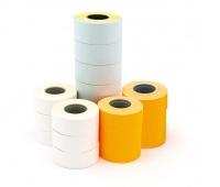 Etykiety do metkownicy jednorzędowej, prostokątne, permanentne 21x12mm, APLI pomarańczowe 1000 szt., 6 rolek, Metkownice, Urządzenia i maszyny biurowe