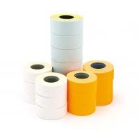 Etykiety do metkownicy jednorzędowej prostokątne usuwalne 21x12mm pomarańczowe 1000 szt. 6 rolek, Metkownice, Urządzenia i maszyny biurowe
